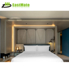 Wooden base and beautiful upholstery king-bed room for star level hotel