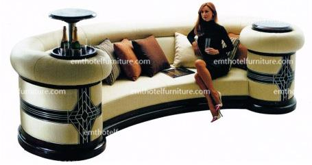 High End Hotel Furniture U Shape Lobby Sofa Solid Wood Furniture Row