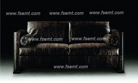 Luxurious European Style Hotel Sofa Leather Sofa for Star Hotel