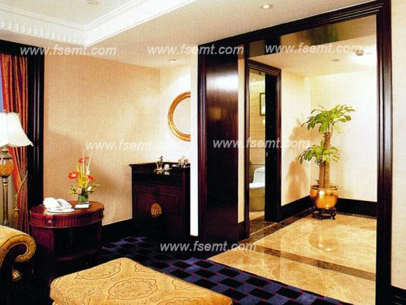 Modern Style Star Hotel Interior Wooden Decorative Frame Line