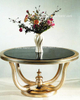 European Sculptural Luxury Glass Flower Tables for Hotel