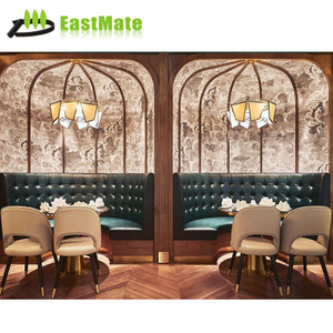 Wood finish restaurant table set to Dubai restaurant furniture
