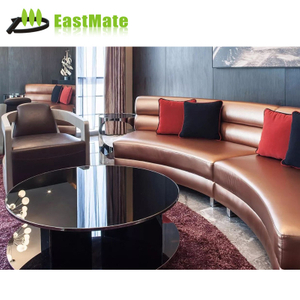 hotel lobby crystal chesterfield wood frame lobby sofa set