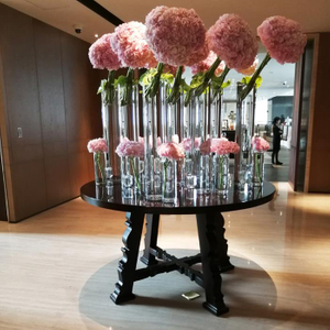 Modern concise hotel public wooden console table flower desk