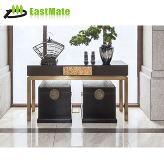 Wholesale contemporary wall table console gold leaf gilding design console tables