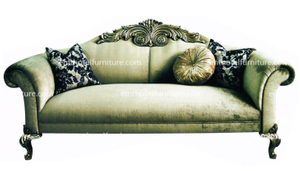 Italy Style Dubai Sofa Floral Pattern Fabric Sofa For Hotel Living Room