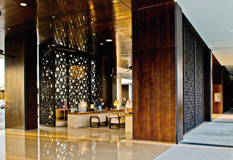Hotel Public Area Wooden Wall Panels