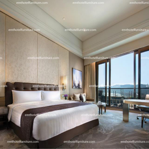Hospitality Design King Furniture Solid Wood Bedroom Hotel Use